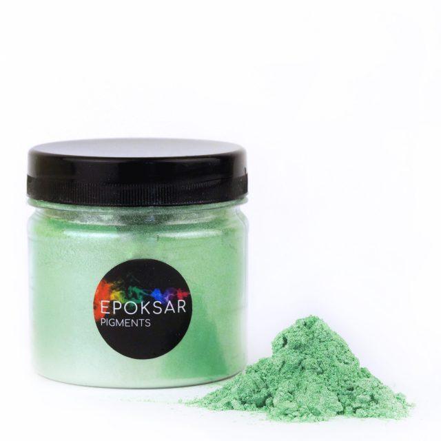 зеленый перламутровый краситель для эпоксидной смолы