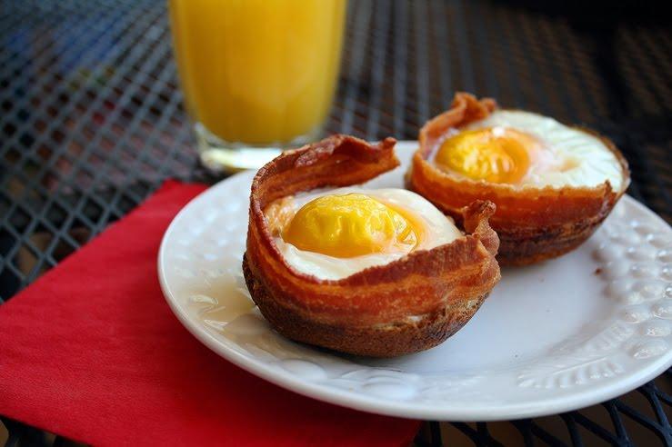 Bacon Egg Toast Cups