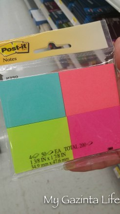 Gotta have those Post-Its to let the family know what's up
