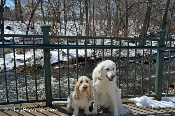 Katie and I hanging out on the bridge over Minnehaha Creek