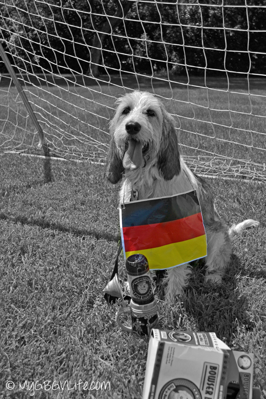 My GBGV Life Bailie howling for Germany in the world cup