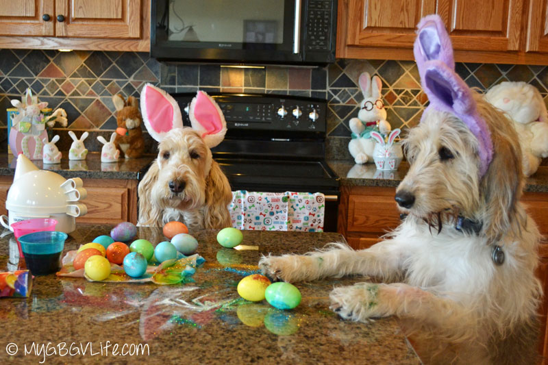 My GBGV Life glitter on the Easter eggs