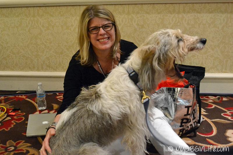 My GBGV Life PR Dog Bailie with Caroline Golon at Blogpaws 2015 in Nashville