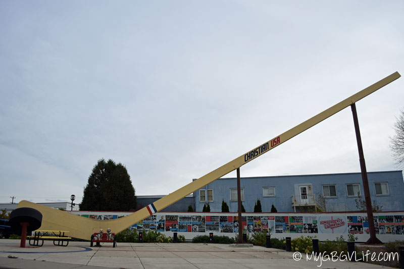 My GBGV Life at the world's largest free standing hockey stick in eveleth