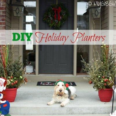 DIY Holiday Planters