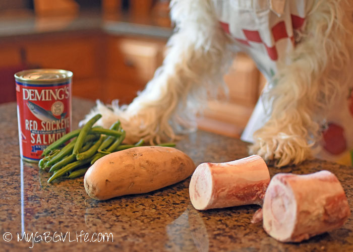My GBGV Life Salmon Dinner Stuffed Bones - A 2 For 1 Snack For Dogs