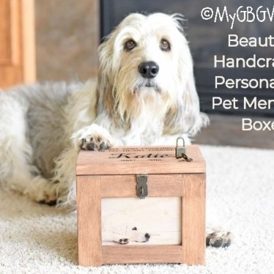 Beautiful, Handcrafted, Personalized Pet Memory Boxes