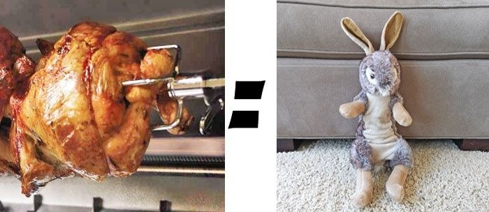 My GBGV Life How Does A Rotisserie Chicken Turn Into A Stuffed Rabbit?