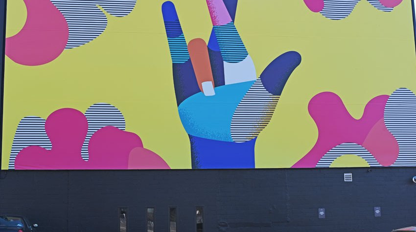 My GBGV Life Sign Language Mural - We Really Love You