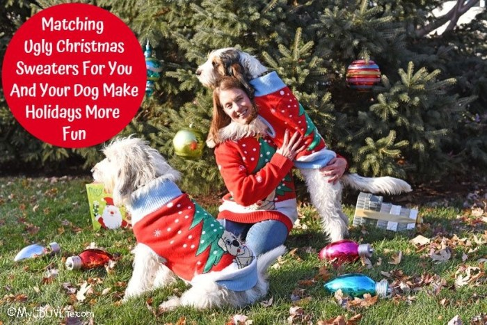 Ugly Christmas Sweaters For You And Your Dog Make Holidays More Fun!