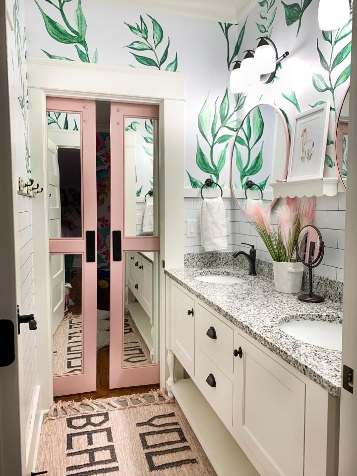 Girly Pink Bathroom