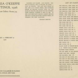 exhibit 1927 checklist | MyGeorgiaOKeeffe.com