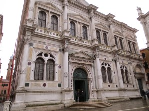 This is a scuola grande---a charity society founded by aristocrats (now a museum). So much marble.