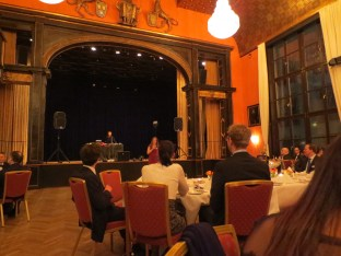 The Künstlerhaus, where the ball took place. I had some trouble placing the era of the room---1920s or 30s, perhaps?