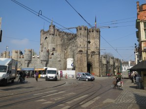 Gravensteen---a castle very much in the middle of the city