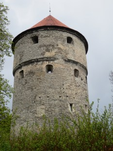 This medieval tower has Russian cannonballs in it