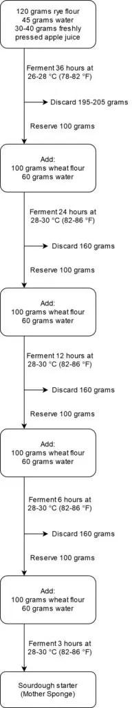 Process flow chart for Swiss-style sourdough
