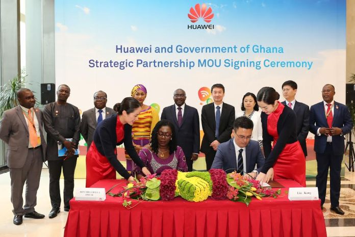 Ghana partners Huawei for strategic ICT partnership