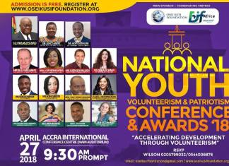 National Youth Volunteerism & Patriotism Conference & Awards set for April 27