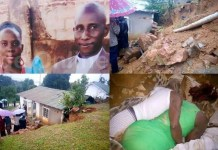 Sad News: Sleeping couple crushed to death by wall (PHOTOS)