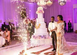 See exclusive photos from Sarkodie and Tracy's white wedding