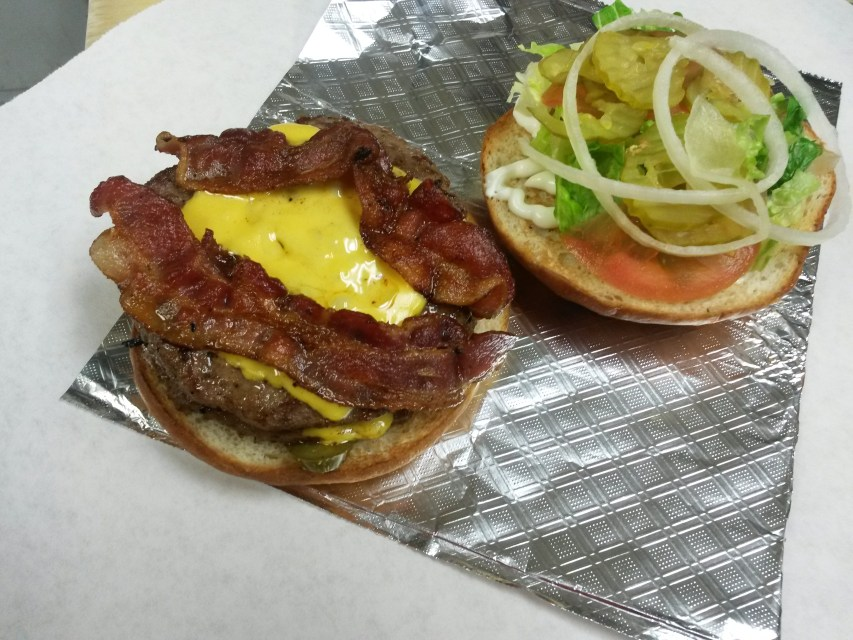 Bacon Double Cheese Burger Gino's Deli