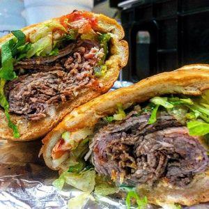 Pastrami Sandwich Gino's Deli & Ice House Stop N Buy