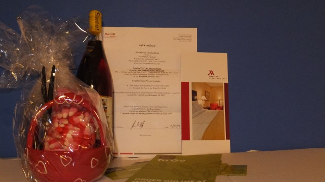 Romance Basket with overnight stay at the Marriott, Olive Garden dinner, River City Grille & More
