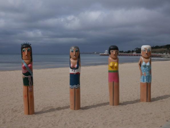 Statuettes sur la plage (Geelong - Australie / 2015)