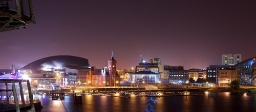 Cardiff by night (Credit photo: Pete Birkinshaw - CC BY 2.0 )