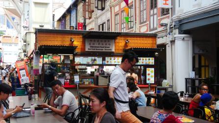 Food court à Chinatown - Singapour (avril 2018)
