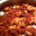 Shrimp in the pan