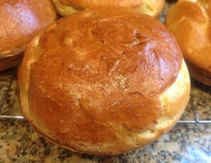 Brioche Hamburger Buns-one rise only test