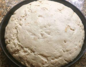 Buttermilk Rye Rustic Flat Bread -finished rise