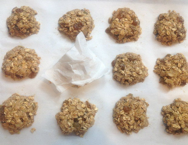 Use small piece of parchment paper to shape dough