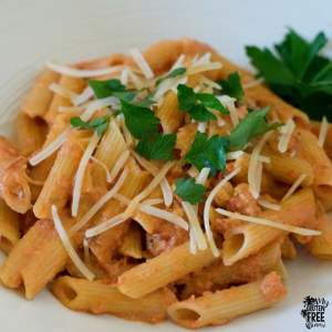 Penne wih Spicy Vodka Sauce
