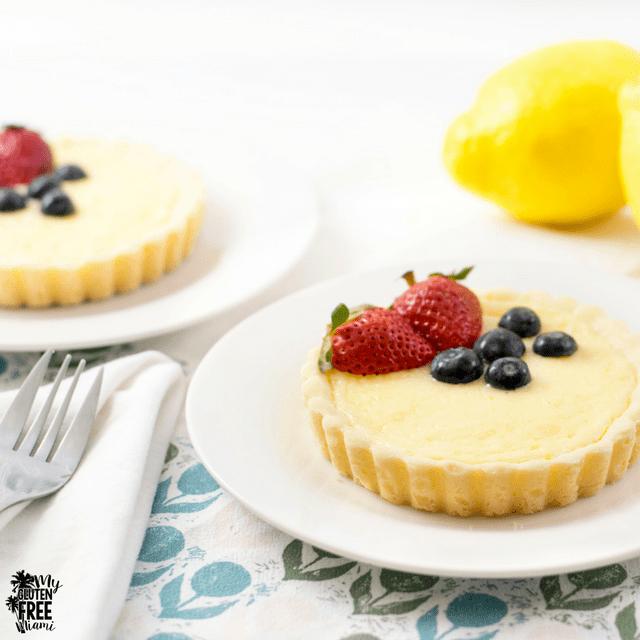 Easy Gluten Free Lemon Cheesecake Tart