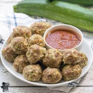 Best Ever Gluten Free Turkey Zucchini Meatballs