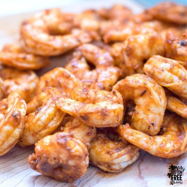 Chipotle marinated shrimp