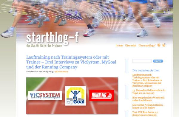 Bildschirmfoto von Startblog-f