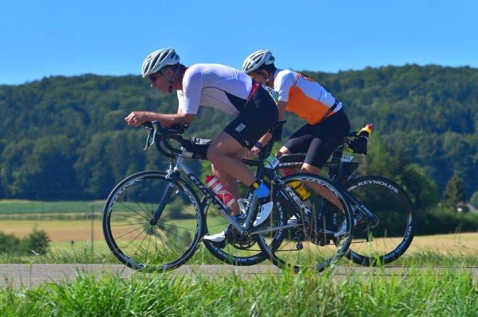 Auf der Radstrecke. Bilder übrigens von Marathon-Photos.com