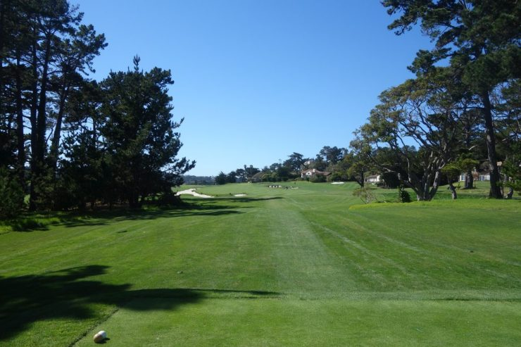 13th hole, Par 4, 368m at Pebble Beach golf links