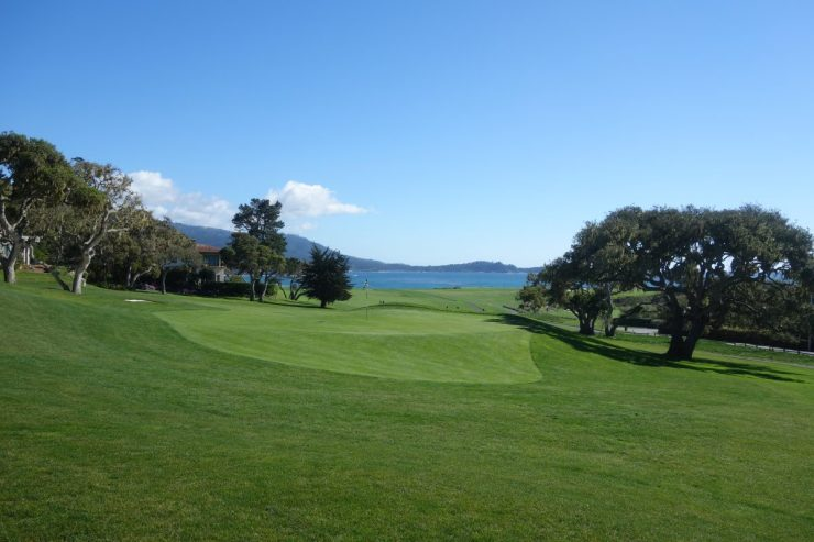 Looking back down 14th at Pebble Beach golf links