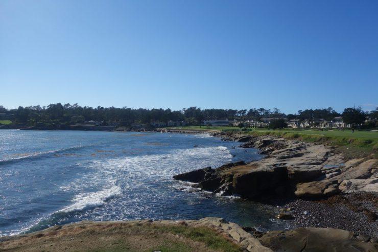 18th tee at Pebble Beach golf links