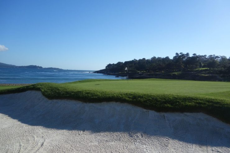 18th green at Pebble Beach golf links
