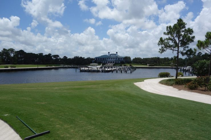 Clubhouse from 18th green at Floridan National Golf Club