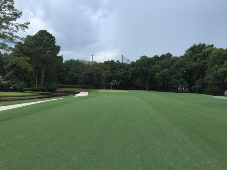 approach to 8th at Harbour Town Links