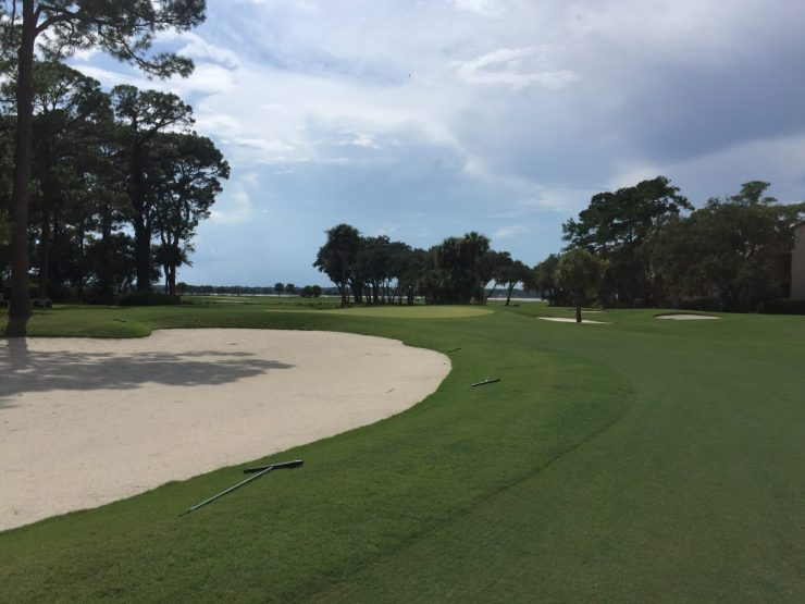 approach to 16th at Harbour Town Links