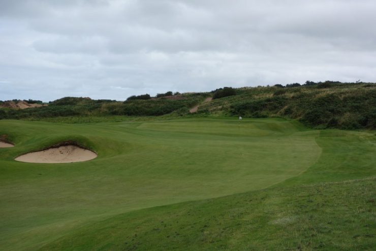 2nd green at Royal Portrush Dunluce links