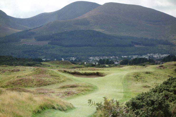 Par 3 7th at Royal County Down